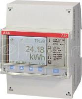 Счетчик 1ф активной энергии трансф.вкл. 1(6)А 1 класс точн. 1 тариф. имп. выход RS485 тип A42 112-200 ABB 2CMA100094R1000