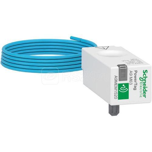 Датчик беспроводной ACTI9 POWERTAG 63А 1P + нейтральный привод S SchE A9MEM1520