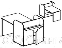 Игровой модуль для творческой деятельности (1200х600х580 мм) арт. ИЗО2
