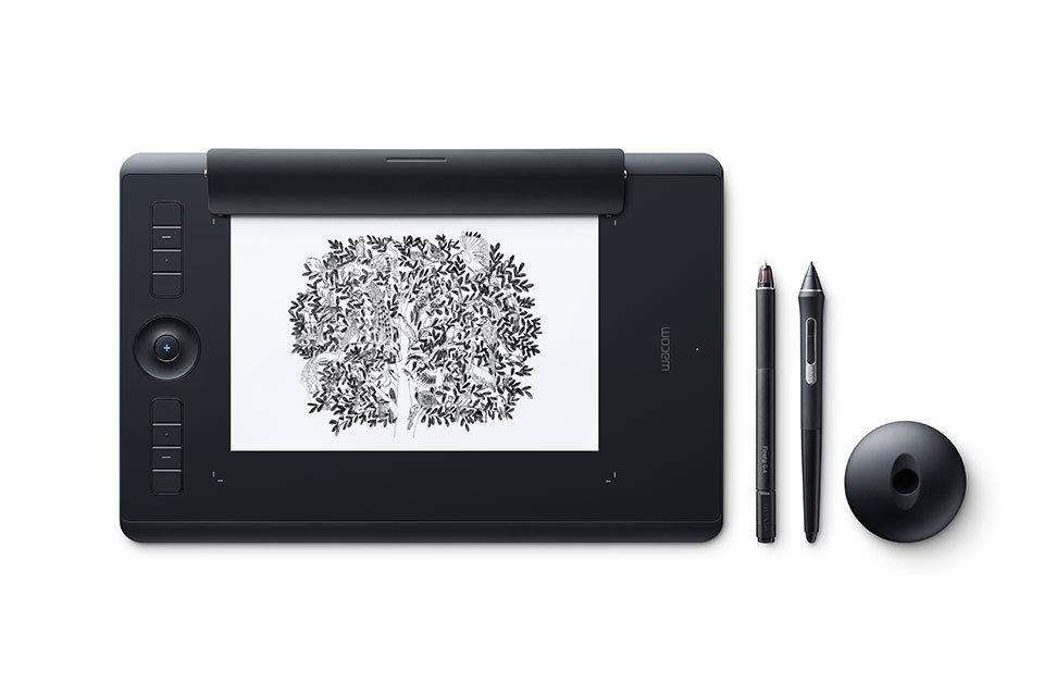 Графический планшет Wacom Intuos Pro Medium Paper Edition R/N (PTH-660P-N, Black)