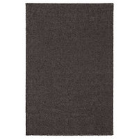 Ковер короткий ворс СТОЭНСЕ темно-серый 200x300 см ИКЕА, IKEA, фото 1