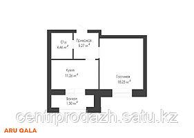 2 комнатная квартира в ЖК Aru Qala 55.65 м²