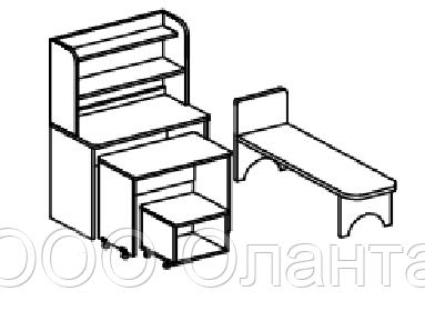 Игровой модуль БОЛЬНИЦА (800х400х1220 мм) арт. БЛ1