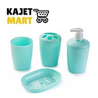 Набор аксессуаров для ванной комнаты Aqua (мята)