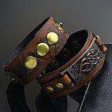 """Браслет кожаный """"Рыцарь"""", фото 5"""