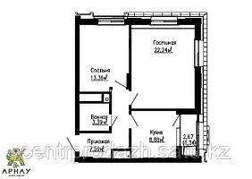 2 комнатная квартира в ЖК Арнау 57.46 м²