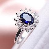 """Кольцо-перстень """"Сапфир"""", фото 3"""