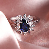 """Кольцо-перстень """"Сапфир"""", фото 4"""