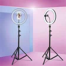 Кольцевая лампа со штативом и держателем для смартфона d26 см
