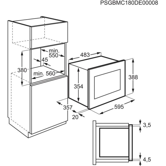 Встраиваемая Микроволновая печь Electrolux Intuit Серия 600 FLEX - фото 4