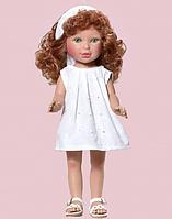 Паулина в белом вышитом платье, 34 см (Vestida de Azul, Испания)