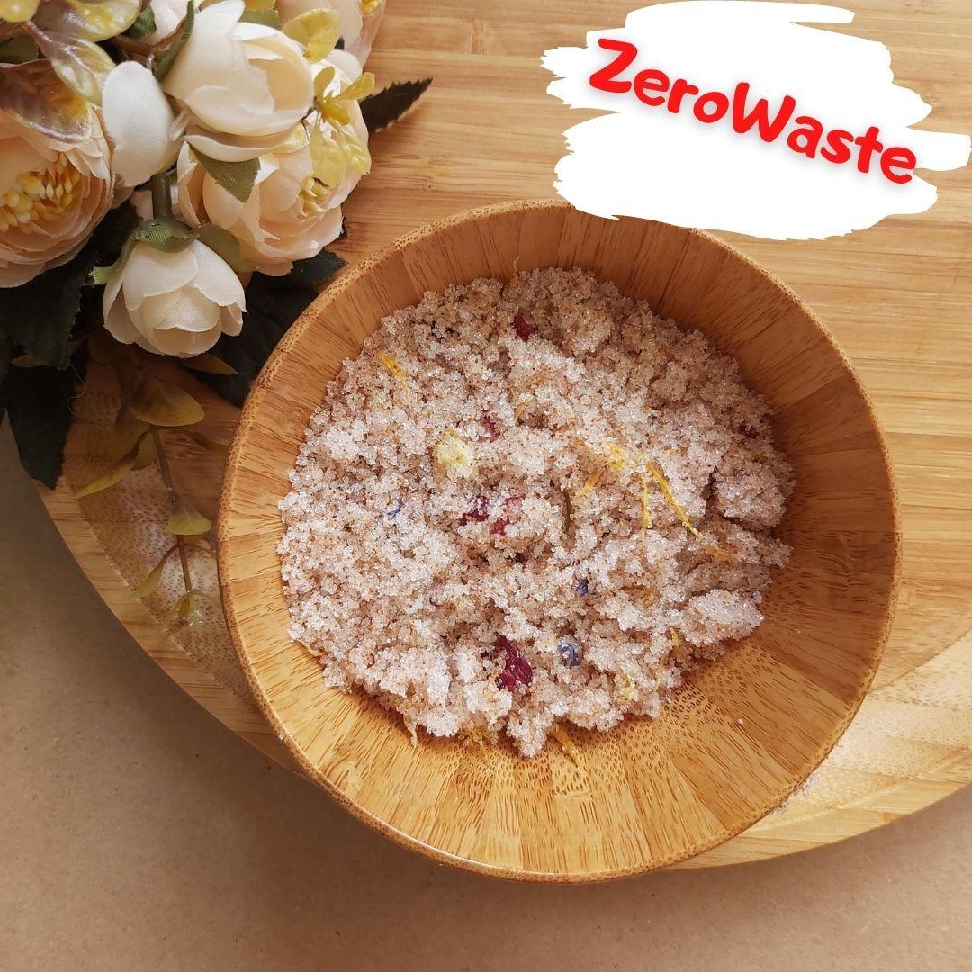 Натуральный цветочный сахарный скраб для тела на развес