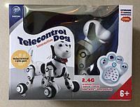 Интерактивная собачка игрушка робот Telecontrol dog черно-белая