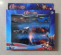 Набор машинок моделек 6 в 1 Супергерои Avengars