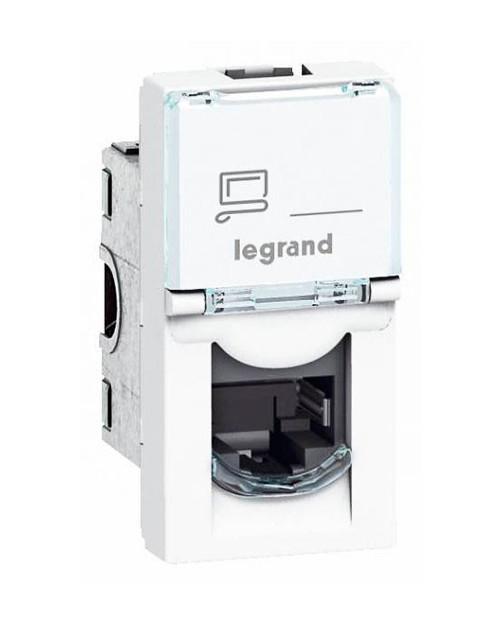 Legrand 076551 MOSAIC RJ45 UTP кат5е 1мод бел