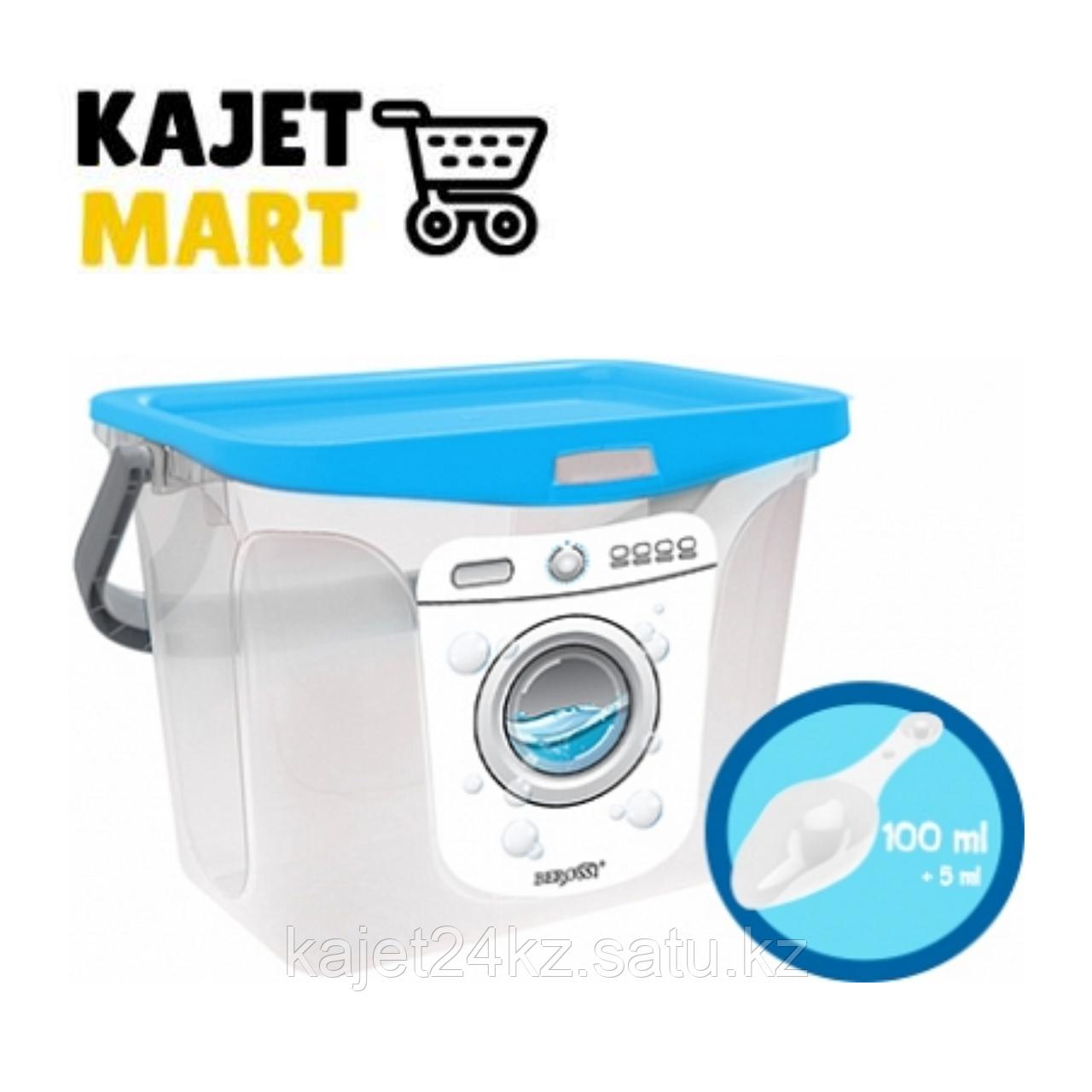 Емкость для стирального порошка 6 л (голубая лагуна)