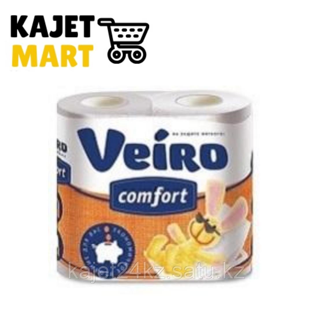 COMFORT Бумага туалетная Veiro COMFORT,с рисунком,2-сл.,4 рул.
