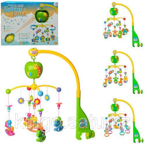 Музыкальная карусель для малышей Добрые сны, Карусель на кроватку проектор звезд