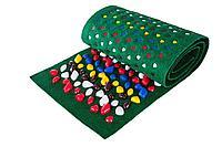 Массажный коврик с камнями, 150 * 40 см, зеленый