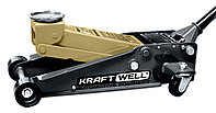 KraftWell KRWFJ3D_gold Домкрат подкатной гидравлический г/п 3000 кг.
