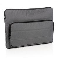 """Чехол для ноутбука Impact из RPET AWARE™, 15.6"""", темно-серый, Длина 39,5 см., ширина 2,5 см., высота 28 см.,"""