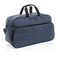 Дорожная сумка Impact из RPET AWARE , темно-синий, Длина 55 см., ширина 22 см., высота 32 см., P762.025