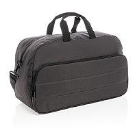 Дорожная сумка Impact из RPET AWARE™, черный, Длина 55 см., ширина 22 см., высота 32 см., P762.021