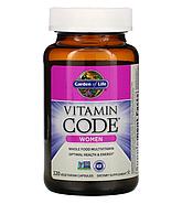 Garden of Life, Vitamin Code, для женщин, 120 вегетарианских капсул, фото 2