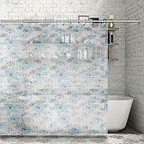 Штора для ванной комнаты Доляна «Лира», 180×180 см, EVA, фото 2
