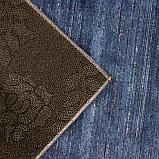 Коврик Доляна «По домашнему» , 50×80 см, цвет синий, фото 3