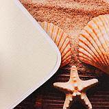Набор ковриков для ванны и туалета Доляна «Ракушки», 2 шт: 45×70, 39×45 см, фото 3