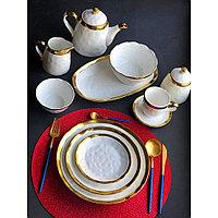 Сервиз керамической посуды «Белое золото» на 4 персоны