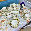 Сервиз керамической посуды «Белое золото» на 4 персоны, фото 3