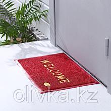 Коврик придверный Доляна Welcome, 38×58 см, цвет МИКС