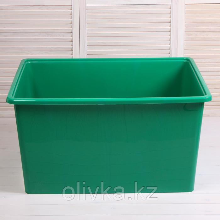 Контейнер, 250 л, 96 х 71 х 51 см, без крышки, зелёный