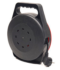 Удлинитель электрический на катушке PowerPlant 10 м, 4 розетки, 3 х 1.5 мм2, 10А, фото 2