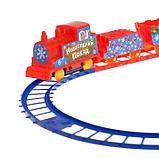 Железная дорога «Ёлочка», с декорациями, фото 2