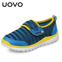 Кроссовки детские Сталкер, голубой с жёлтым Uovo, 28