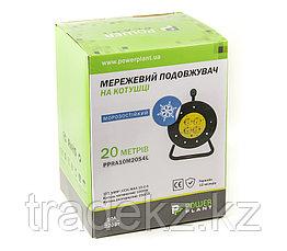 Удлинитель электрический на катушке PowerPlant 40 м, 3x1.5 мм2, 10А, 4 розетки, морозостойкий, фото 3