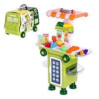 Игровой набор магазин в чемоданчике-автобусе «Передвижной магазин»