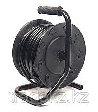 Удлинитель электрический на катушке PowerPlant 25 м, 3x2.5мм2, 16А, 4 розетки, морозостойкий, фото 2