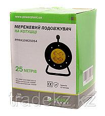 Удлинитель электрический на катушке PowerPlant 25 м, 3x2.5мм2, 16А, 4 розетки, морозостойкий, фото 3