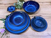 Сервиз керамической посуды синего цвета «Azure» на 4 персоны