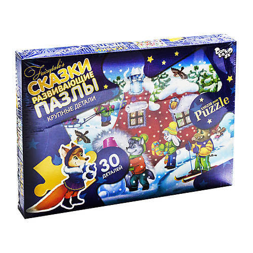 """Danko Toys Макси Пазлы """"Сказки: Рукавичка"""", 30 элементов"""
