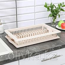 Сушилка для посуды Альтернатива «Мечта хозяйки», 48×30×9 см, цвет бежевый
