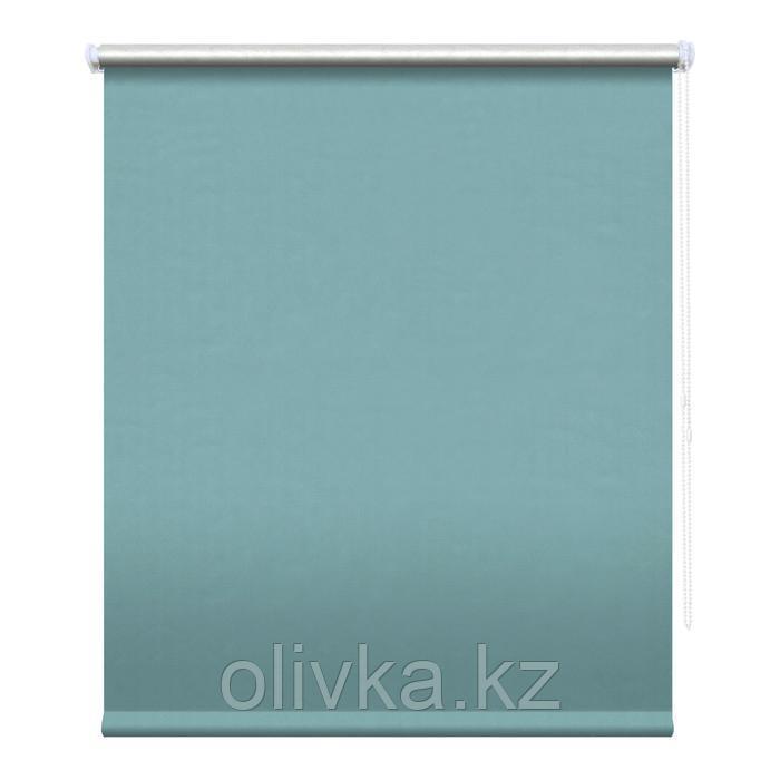 Рулонная штора блэкаут «Сильвер», 78 х 175 см, цвет ментол
