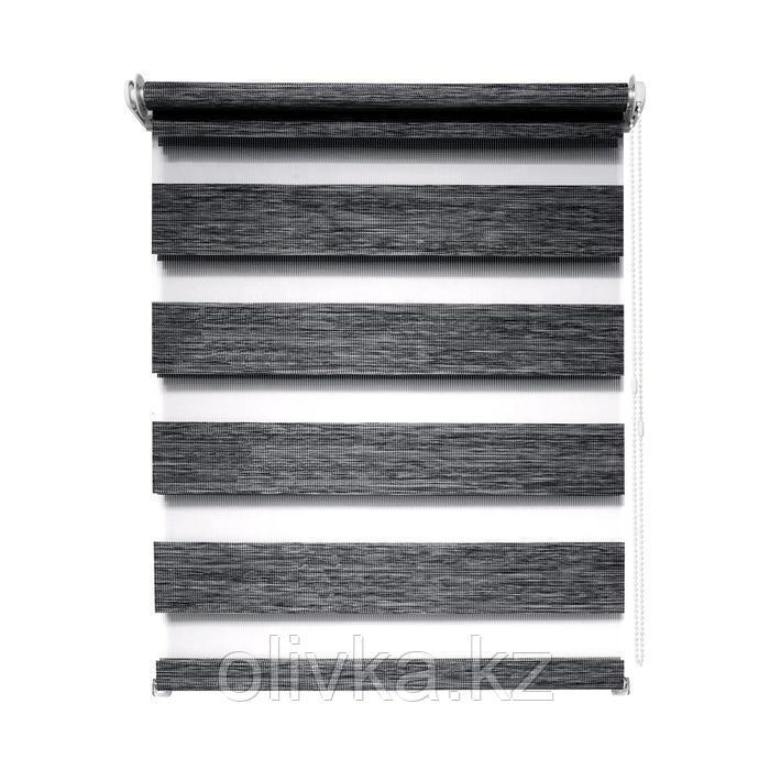 Рулонная штора день/ночь «Канзас», 78 х 160 см, цвет графит