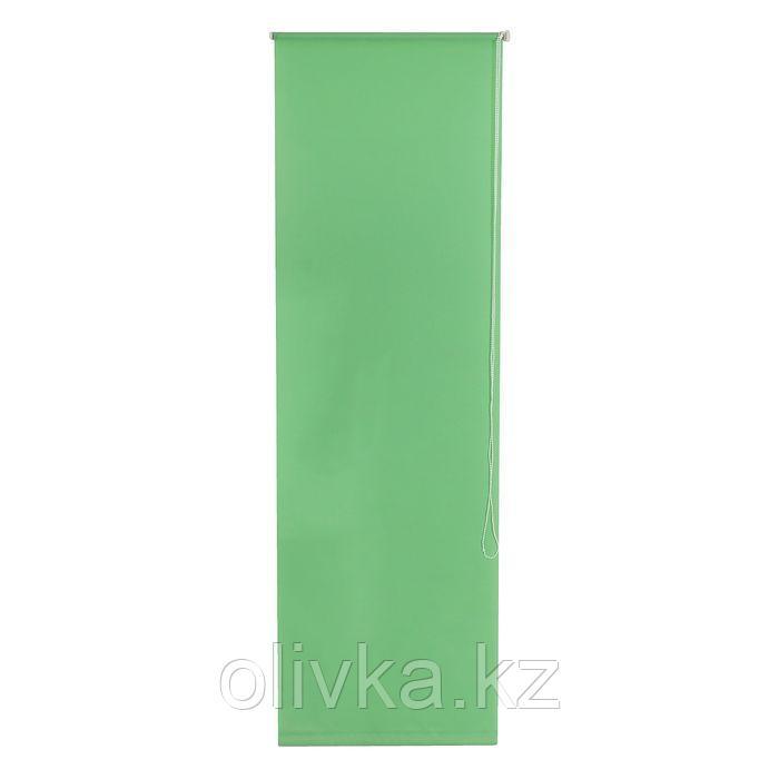 Штора рулонная 140 х175 см «Плайн», цвет светло-зелёный