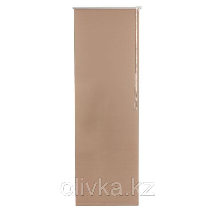 Штора рулонная 140 х175 см «Плайн», цвет какао