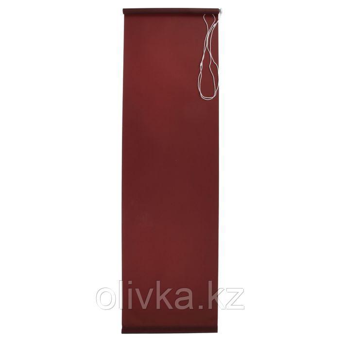 Штора рулонная 140 х 175 см, «Плайн», цвет тёмно-коричневый